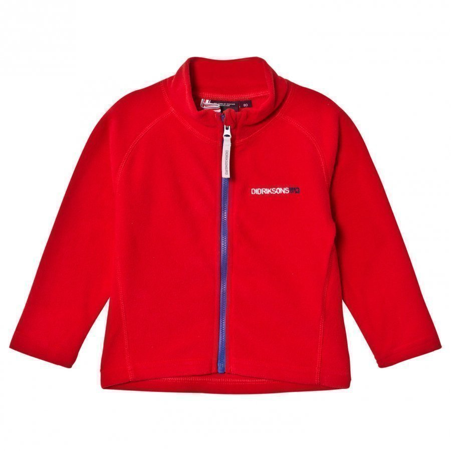 Didriksons Monte Kids Jacket 2 Red Fleece Takki