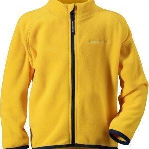 Didriksons Monte Kids Mircofleece Jacket Fleecetakki Keltainen