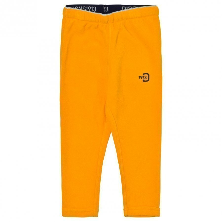 Didriksons Monte Kids Pants 2 Mandarine Fleece Housut