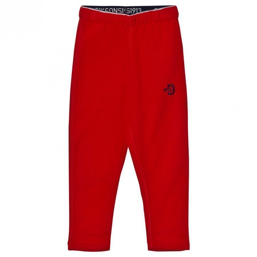 Didriksons Monte Kids Pants 2 Red Fleece Housut