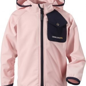 Didriksons Otego Kid's Jacket Softshell Takki Vaaleanpunainen