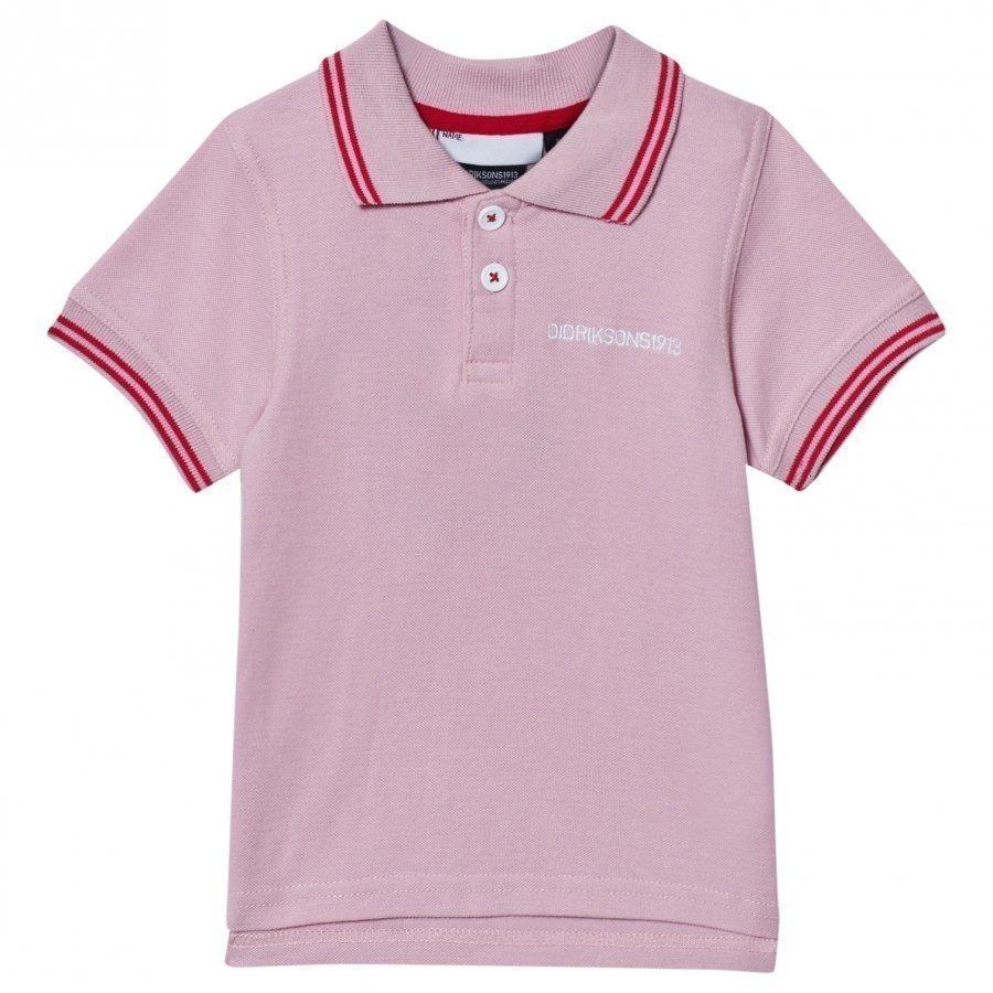 Didriksons Räkan Kids Polo Dusty Pink Pikeepaita