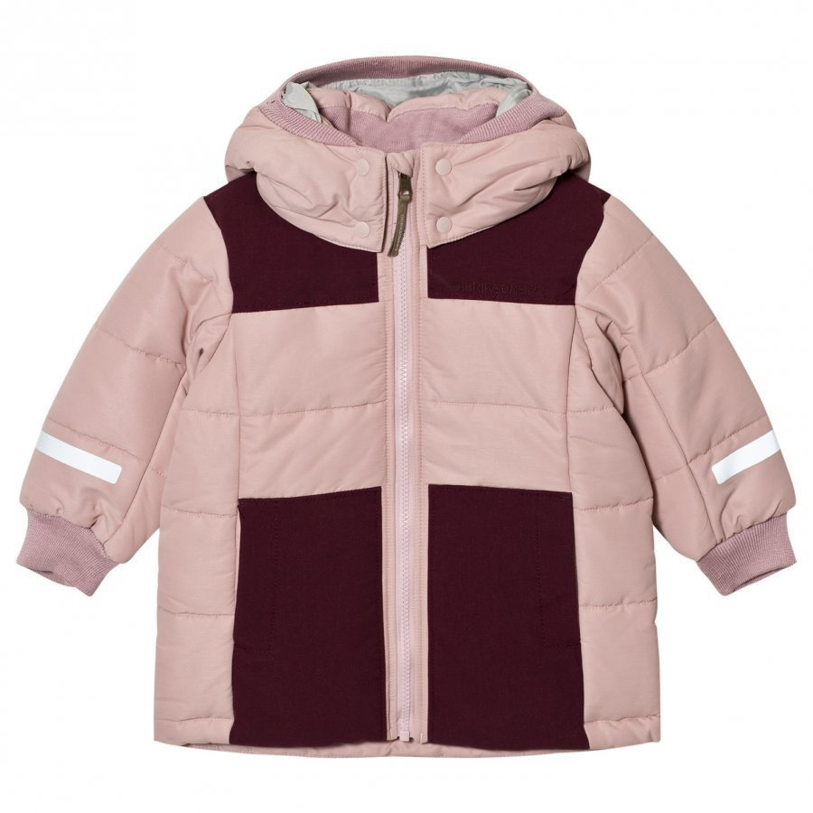Didriksons Ris Kids Jacket Dusty Pink Parkatakki