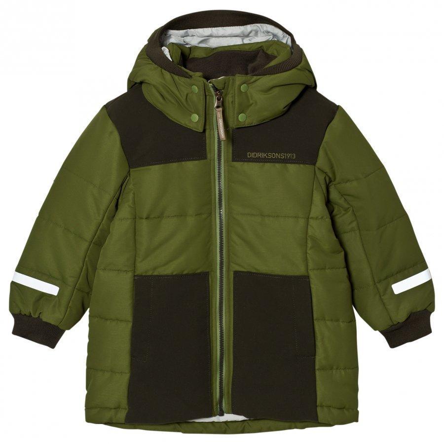 Didriksons Ris Kids Jacket Turtle Green Parkatakki