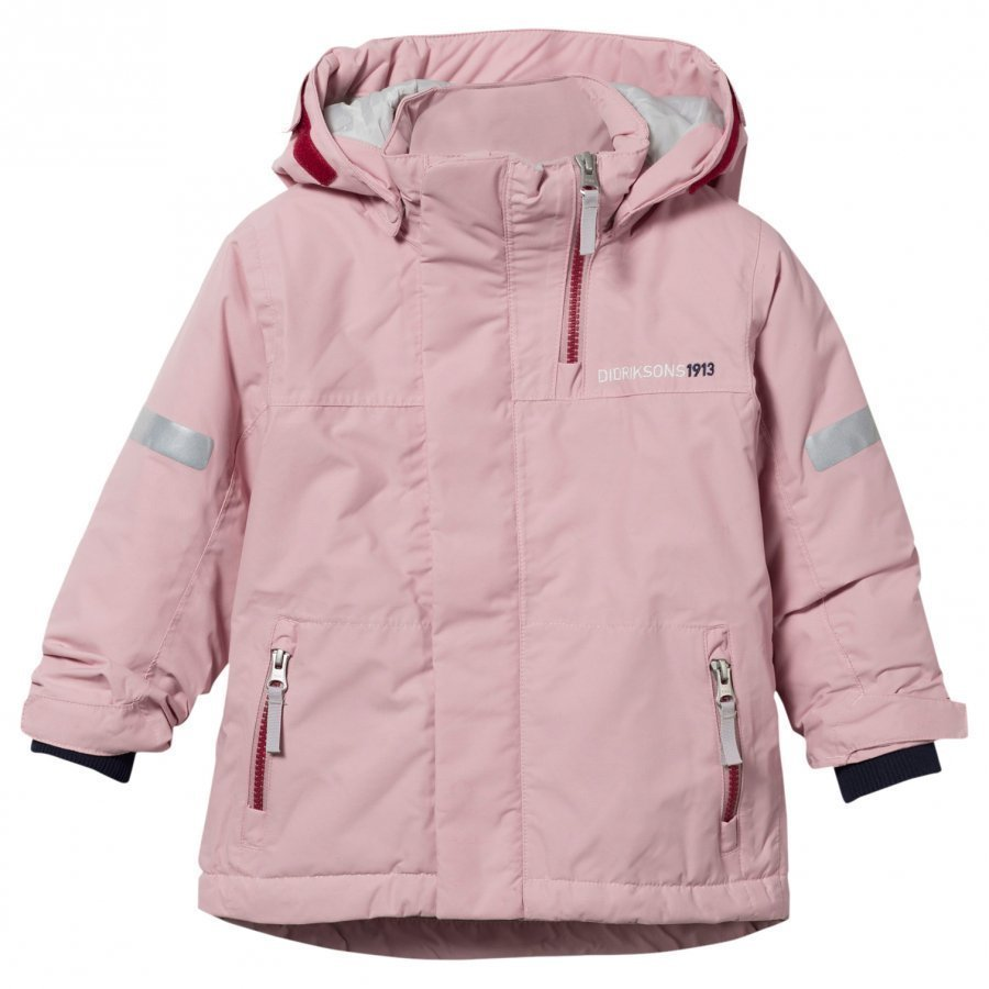 Didriksons Rovda Kid's Jacket Dusty Pink Toppatakki