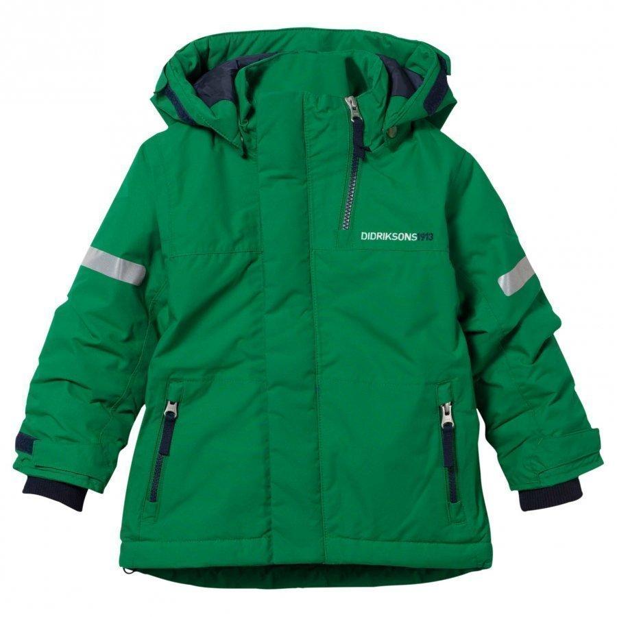 Didriksons Rovda Kid's Jacket Jello Green Toppatakki