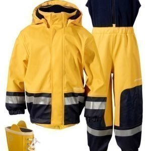 Didriksons Sadeasu vuorilla + Kumisaappaat Boardman Yellow Paketti
