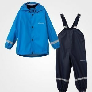 Didriksons Slaskeman Kid's Rain Set Sharp Blue Sadesetti