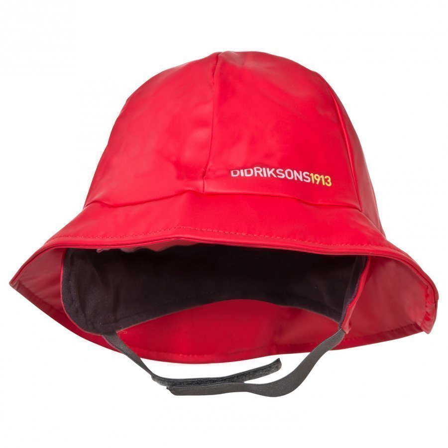 Didriksons Southwest Kid's Rain Hat Flag Red Sadehattu