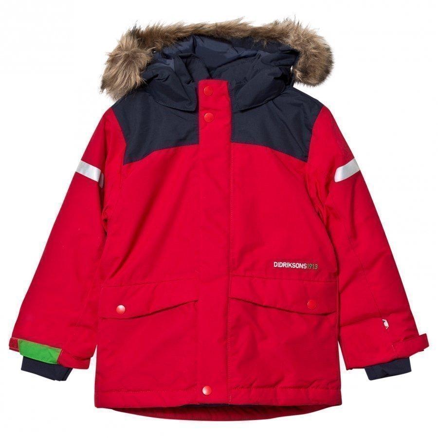 Didriksons Storlien Kids Jacket Red Toppatakki