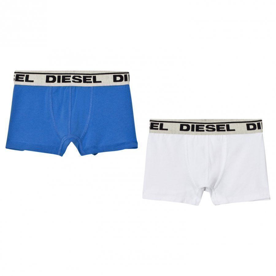 Diesel 2 Pack Blue White Trunks Bokserit