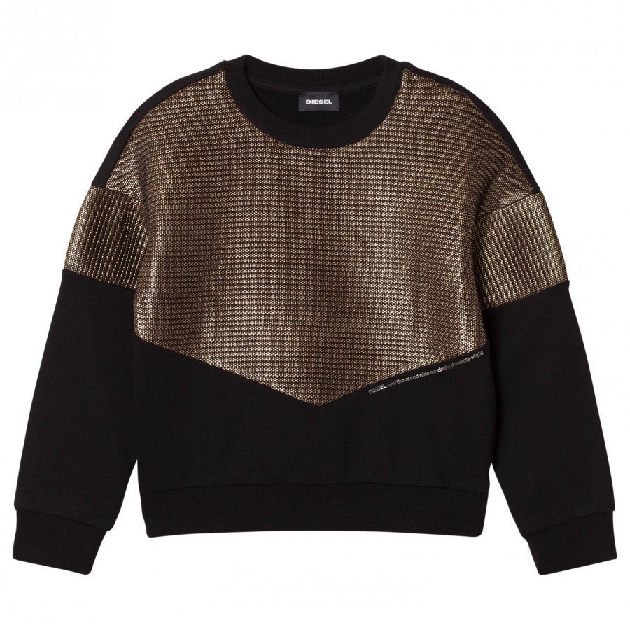 Diesel Black And Gold Knit Sweaters Oloasun Paita