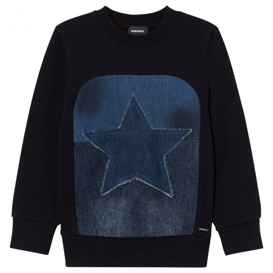 Diesel Black Star Graphic Knit Sweater Oloasun Paita