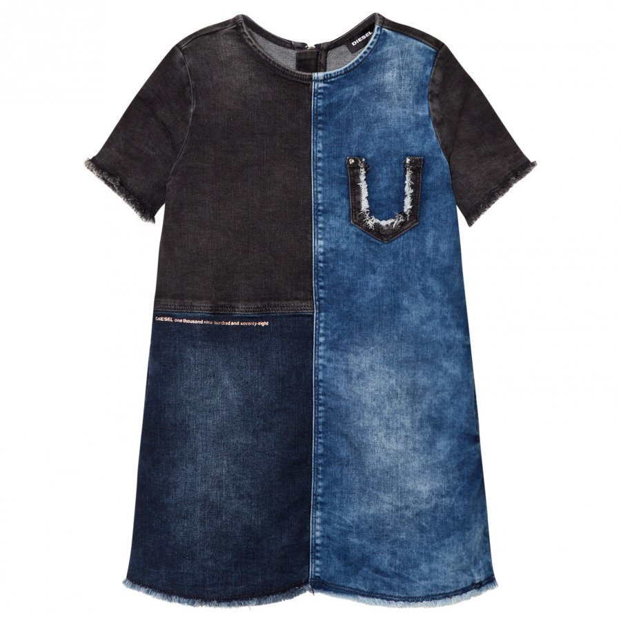 Diesel Blue And Navy Woven Dress Mekko