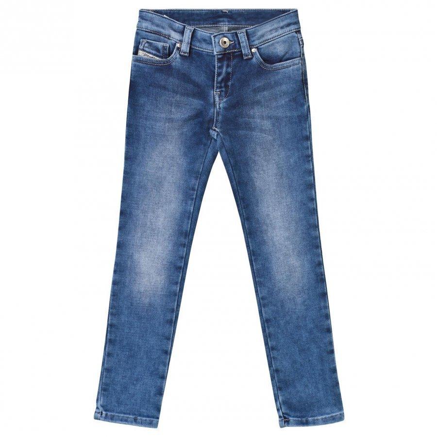 Diesel Blue Mid Wash Skinzee Low Skinny Jeans Farkut