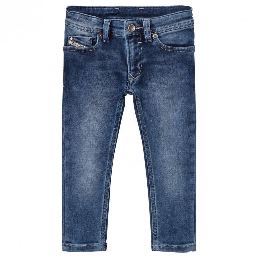 Diesel Blue Slim Fit Sleenker Jog Jeans Farkut