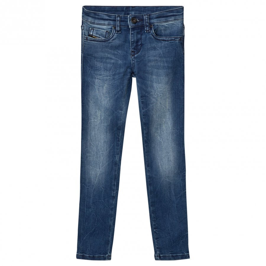 Diesel Blue Washed 5 Pocket Skinzee Low Jeans Farkut