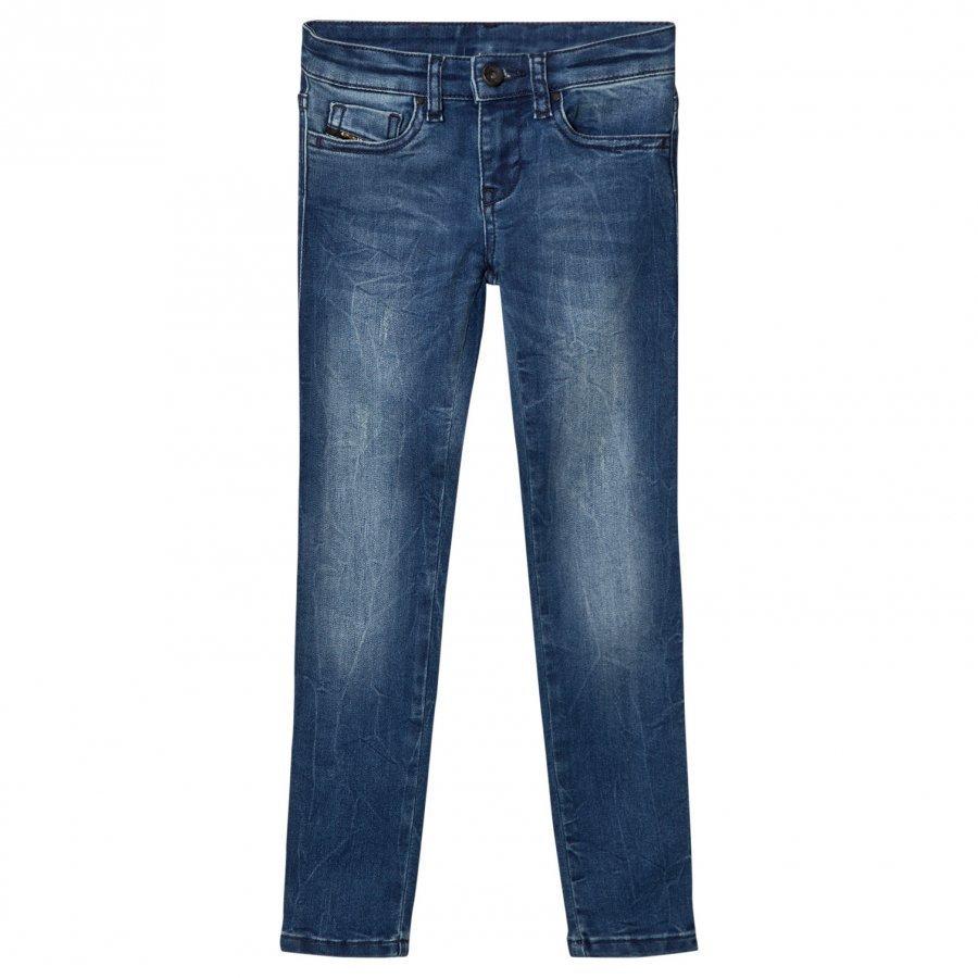 Diesel Blue Washed 5 Pocket Skinzee Low Jeans Farkut