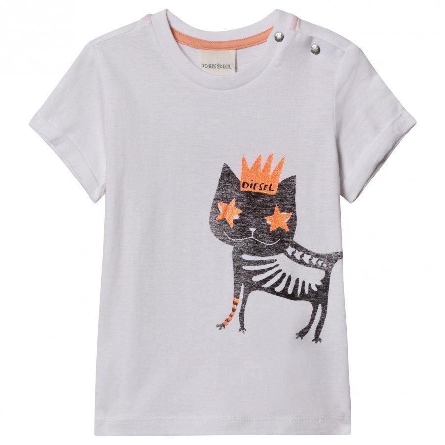 Diesel Cat Print T-Shirt T-Paita