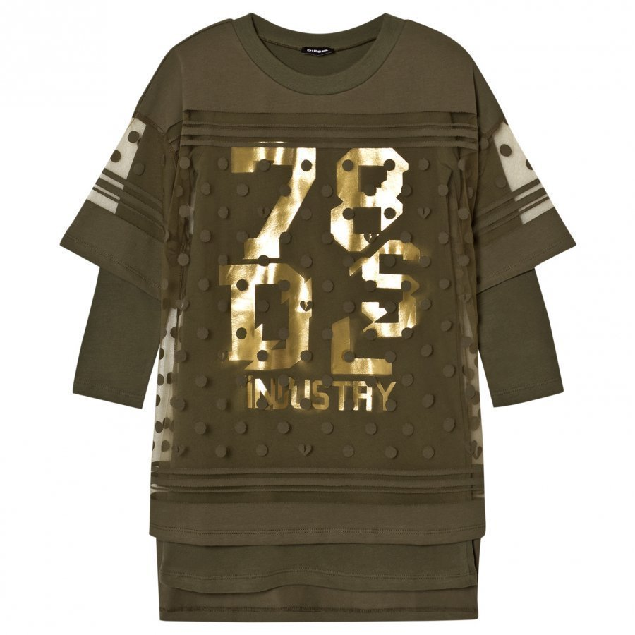 Diesel Green 78 Gs Logo Knit Dress Mekko