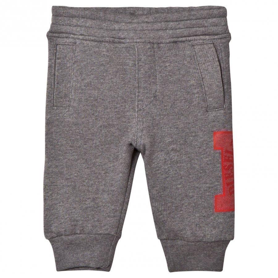 Diesel Grey D Logo Print Baby Pants Verryttelyasu