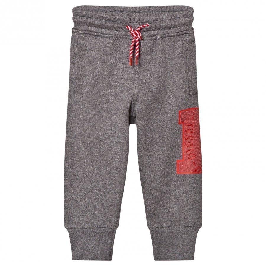 Diesel Grey D Logo Print Pants Verryttelyhousut