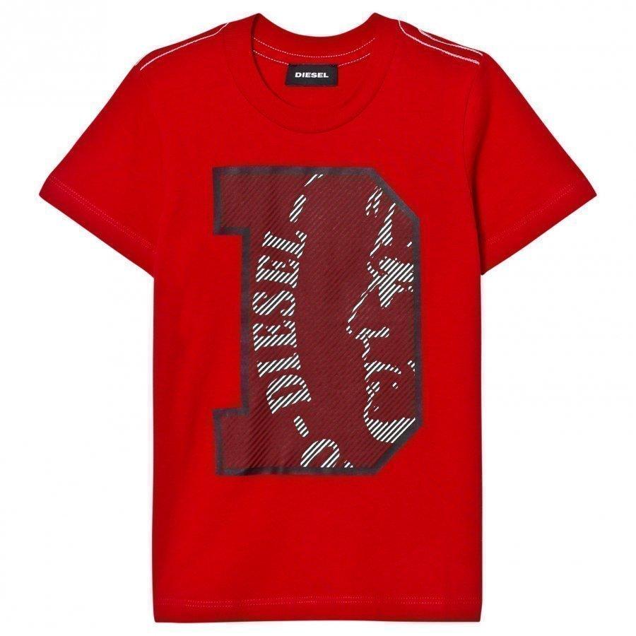 Diesel Red D Logo Tee T-Paita