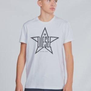 Diesel Tdiegoyh T Shirt T-Paita Valkoinen