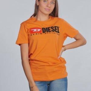 Diesel Tjustdivision T Shirt T-Paita Oranssi