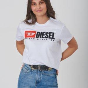 Diesel Tjustdivision T Shirt T-Paita Valkoinen