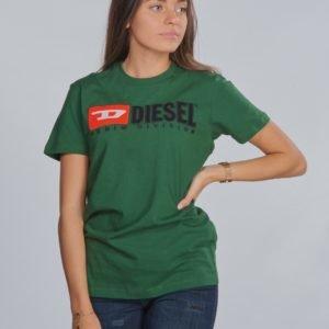 Diesel Tjustdivision T Shirt T-Paita Vihreä
