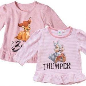 Disney Bambi Tunika 2 kpl Peach/White