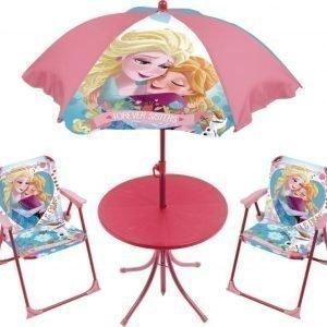 Disney Frozen Pöytä aurinkovarjo sekä kaksi tuolia Forever sisters