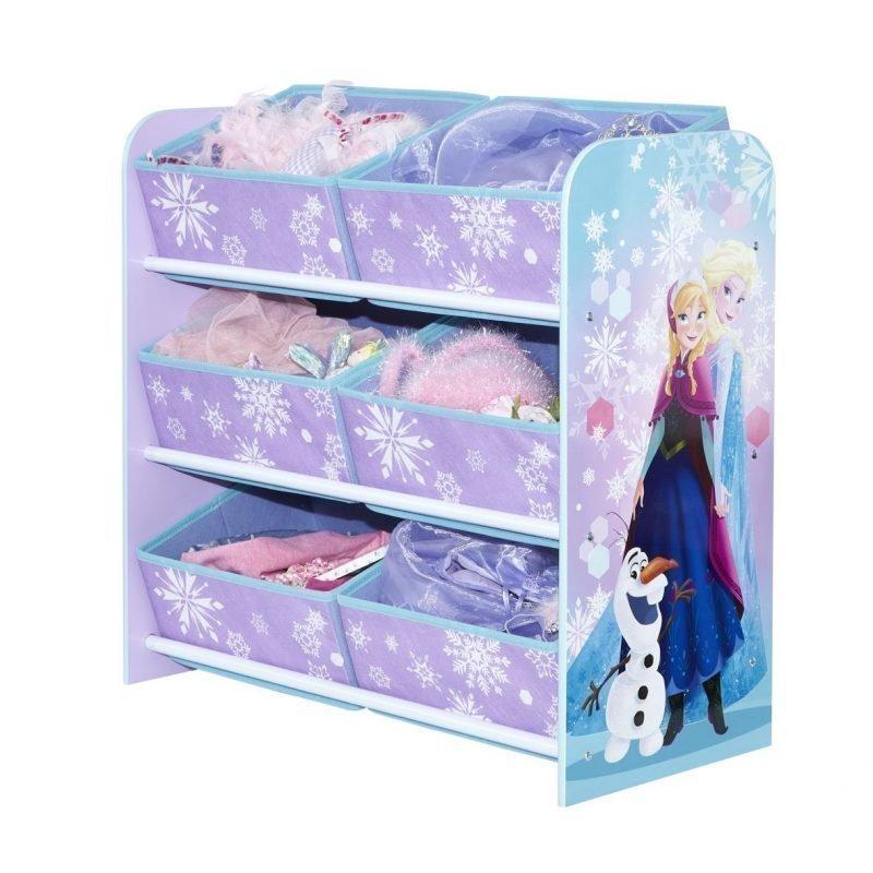Disney Frozen Säilytyshylly Kuusi laatikkoa Liila