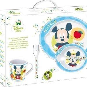 Disney Mickey Mouse Vauvan astiasetti Mikronkestävä 5 osaa