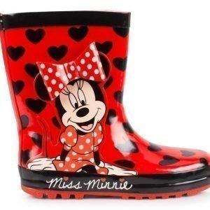Disney Minnie Mouse Kumisaappaat Sydämet Punainen/musta
