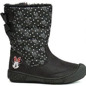 Disney Minnie Mouse Saapikkaat C-TEXI Kuviolliset Musta