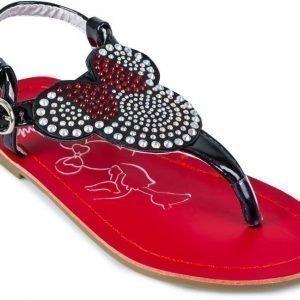 Disney Minnie Mouse Sandaalit strassikoristein Musta/punainen