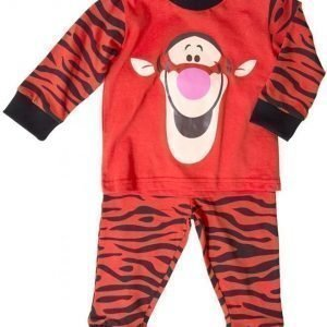 Disney Nalle Puh Pyjama Tikru Vauvan Orange/Black