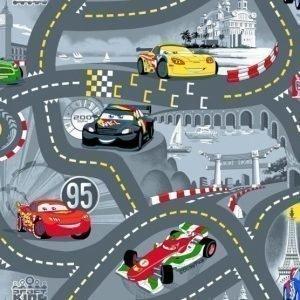 Disney Pixar Cars Matto 95 x 133 cm World of Cars Harmaa