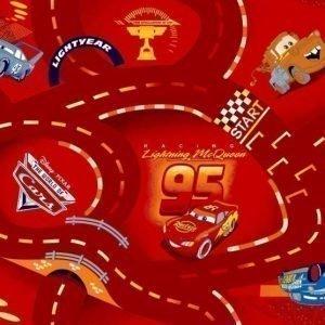 Disney Pixar Cars Matto 95 x 133 cm World of Cars Punainen