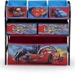 Disney Pixar Cars Säilytyshylly 6 laatikkoa Metallia