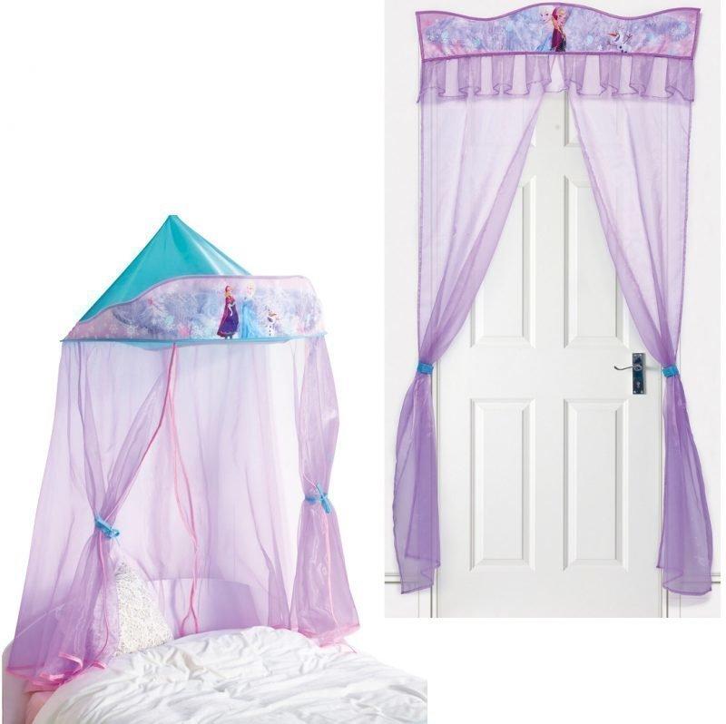 Disney Princess Frozen Ovikoriste + Vuodekatos Paketti