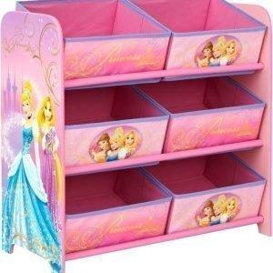 Disney Princess Hyllykkö kuudella säilytyslaatikolla
