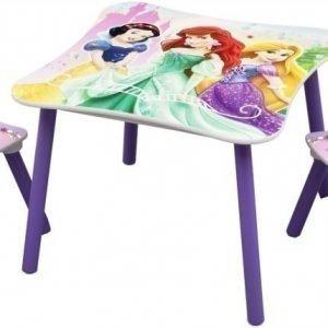 Disney Princess Pöytä ja kaksi tuolia Liila