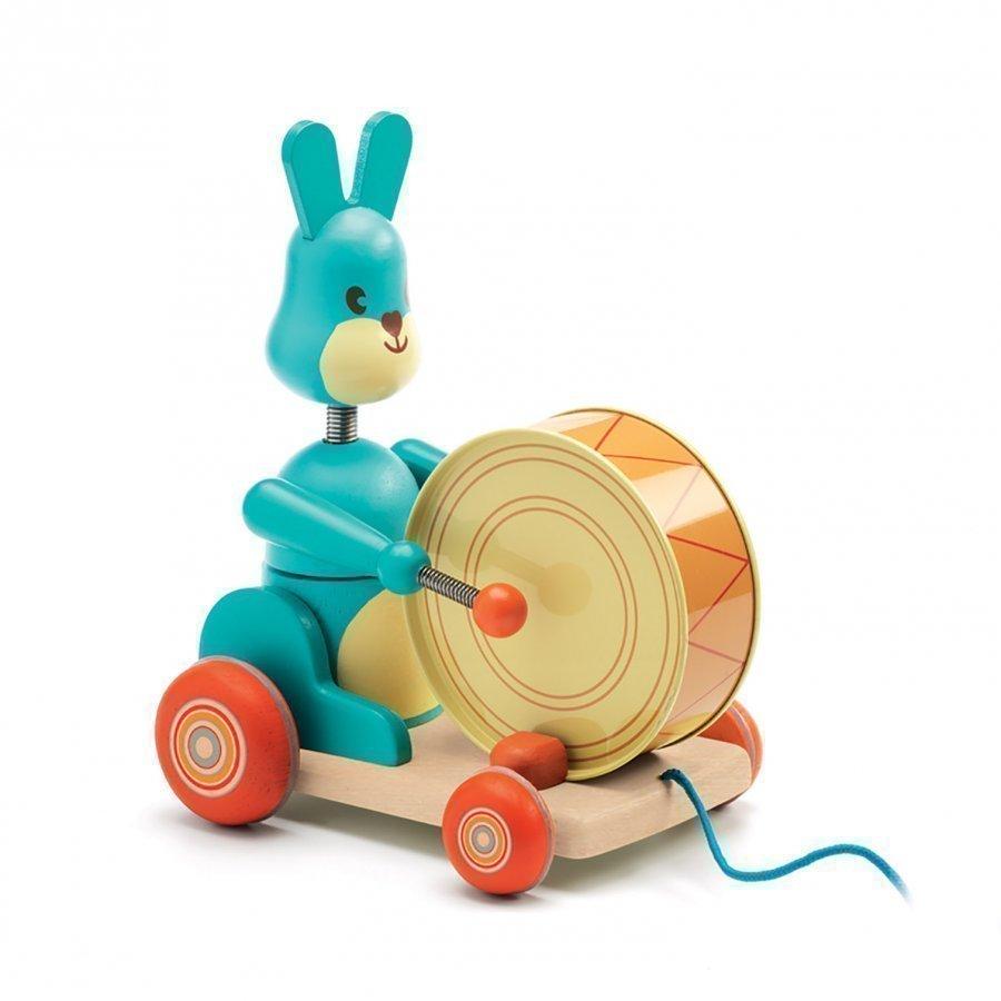 Djeco Bunny Boum Pull Along Toy Vetolelu