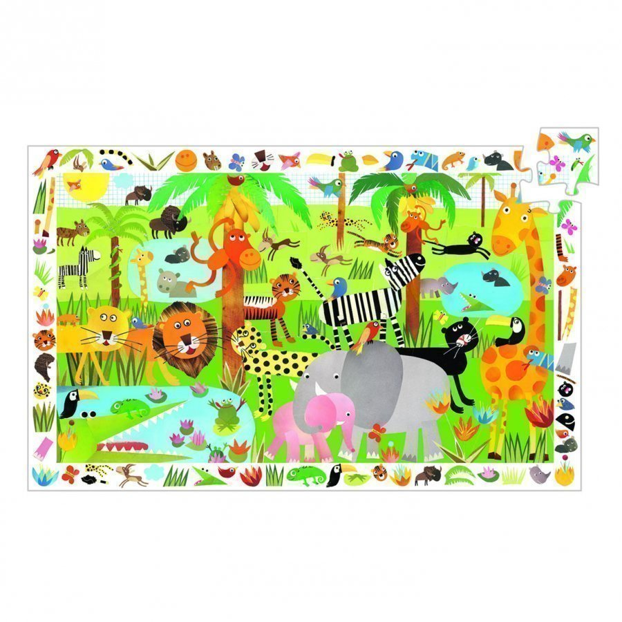 Djeco Jungle Observation Puzzle 35 Pcs Palapeli