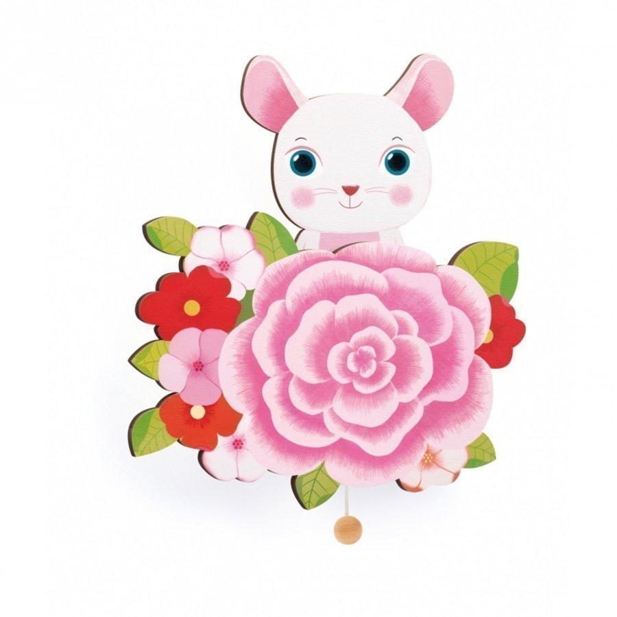 Djeco Mouse Wall-Mounted Musical Box Musiikkilelu