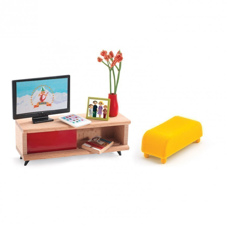 Djeco The Tv Room Nukketalon Huonekalu