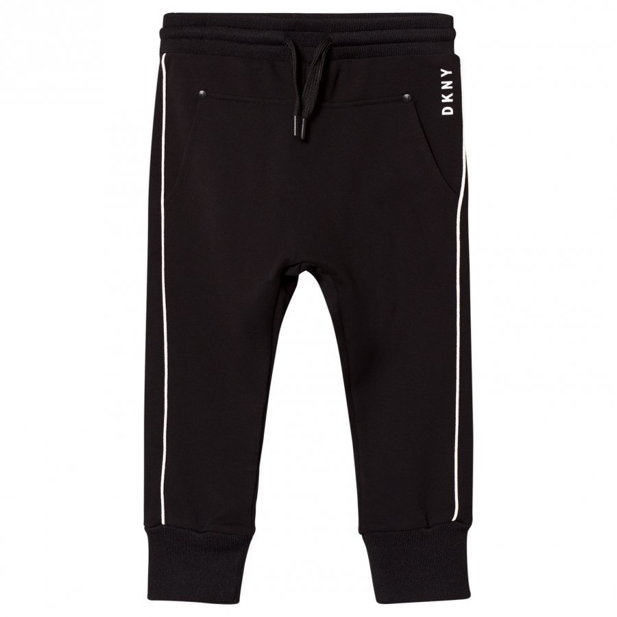 Dkny Black And White Branded Track Pants Verryttelyhousut